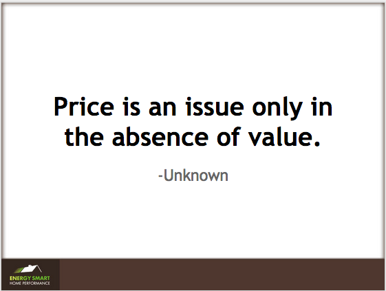 Price is an issue only in the absence of value.