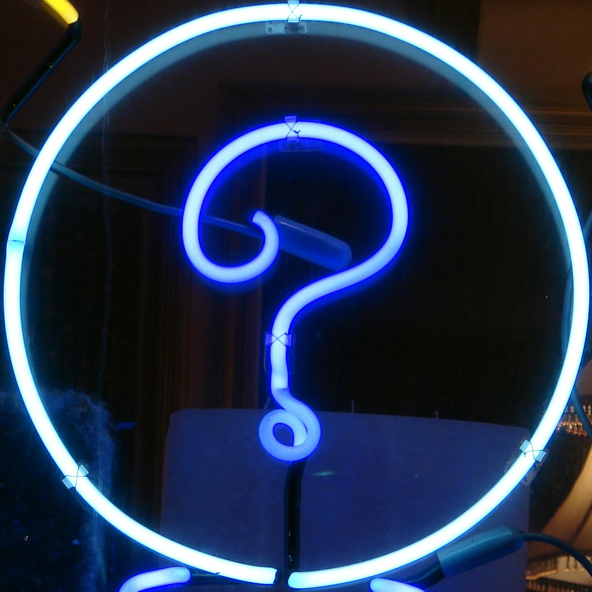 Neon Question Mark Gareth Simpson Flickr